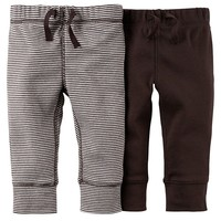Carter's 2-pk. Striped & Solid Pants - Baby Boy, Size: