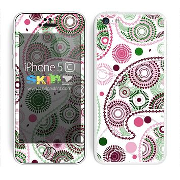 Subtle Pink and White Colored Paisley Pattern V1 Skin For The iPhone 5c
