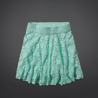 Hollister High Rise Lace Skater Skirt