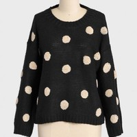 bella polka dot knit sweater at ShopRuche.com