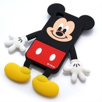 Disney Mickey Mouse Die-Cut Silicone Cover for iPhone 4S/4