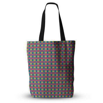 "Empire Ruhl ""Delilah"" Red Pattern Everything Tote Bag"