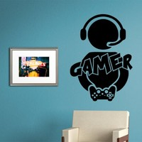 Gamer Version 101 Video Game Decal Sticker Wall Boy Girl Teen Child Sport Fight