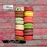 Macaron Cookie Cute Rainbow Color French Macaroon Custom iPhone 4 and 4s Case and Custom iPhone 5 and 5s and 5c Case