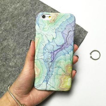 World Map Cover Case For Iphone 5 5s 6 6s 6Plus 6s Plus + Free Shipping + Gift Box-170928