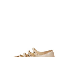 Mojo Moxy Mayfair Cream Strappy Pointed Flats