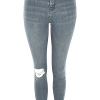 MOTO Grey Ripped Jamie Jeans - Shop All Jeans - Jeans