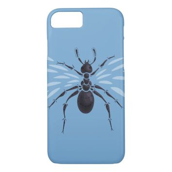 Abstract Flying Ant With Wings iPhone 7 Case