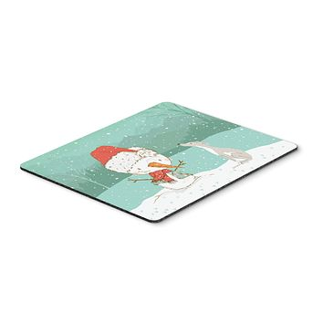 Italian Greyhound Snowman Christmas Mouse Pad, Hot Pad or Trivet CK2089MP