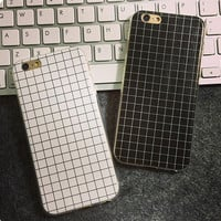 Simple Unique Grid iPhone 7 se 5s 6 6s Plus Cover Case Best Gift
