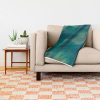 Submerge Aqua Throw Blanket by Nina May Designs | Society6