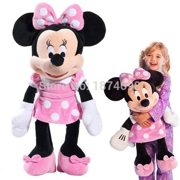 Minnie Toys Large Big 65cm 26'' Minnie Plush Toy Pink Purple Red Dress Mickey Girlfriend Pelucia Kids Dolls Gifts