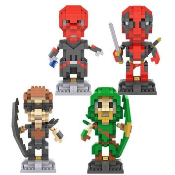 Building Blocks 9cm Arrow Hawkeye Red Skull Deadpool Action Figure Model Toy