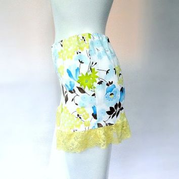 womens high waisted shorts with lace  - made to order