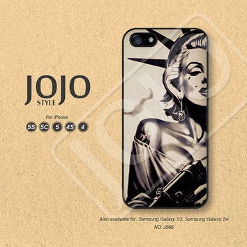 iPhone 5 Case, iPhone 5c Case, iPhone 4 Case, iPhone 5s Case, iPhone 4s Case, Marilyn Monroe, Phone Cases, Phone Covers - J066