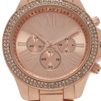 Rhinestone Chronograph Watch | Forever 21 - 1000178420