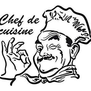 Chef De Cuisine Cooking Vinyl Car Decal