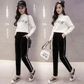 Autumn New Style Two-sided with Soft Nap Thicken Pants Trousers