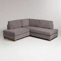 Charcoal Wyatt Sectional Sofa - World Market