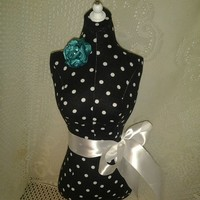 Black polka dots dress form designs great bedroom decor jewelry displa