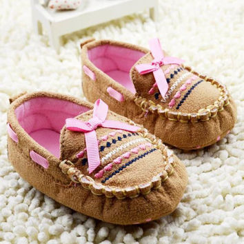 Cute Brown Baby First Walk Shoes
