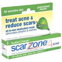 Sudden Change Scar ZoneA Acne Treatment & Scar Diminishing Cream, for Sensitive Skin, 0.5-Ounce Tubes, (Pack of 3)
