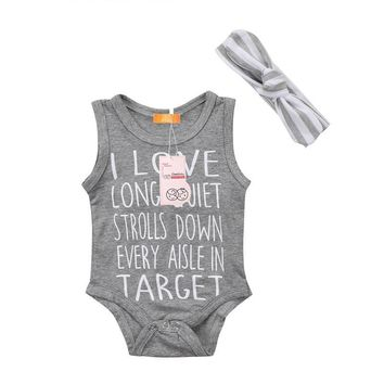 I Love Long Quiet Strolls Down Every Aisle In Target Funny Infant Baby Onesuit Bodysuit