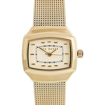 Ted Baker Mesh Bracelet Watch With White Dial