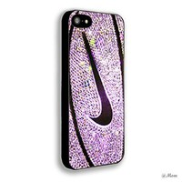 NIKE BASKETBALL Look Like PINK GLITTER Iphone 4/4s 5 5c 6 6plus case (iphone 4/4s black)