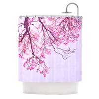"Iris Lehnhardt ""Magnolia Trees"" Pink Branches Shower Curtain"