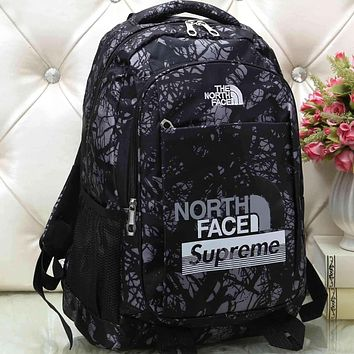 The North Face x Supreme Women Men Fashion Pattern Backpack Bag