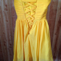 Real a-line sweetheart yellow completed dress bust 74cm waist 64cm party dress bridesmaid dress formal dress evening dress prom dress 2013