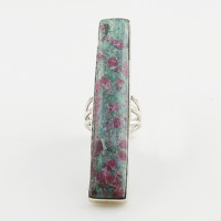 Ruby In Fuschite Statement Sterling Silver Ring