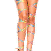 Metallic Rainbow Leg Wraps