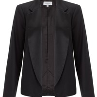 Black Wool Tux Jacket | Crippen | Avenue32