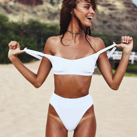 Bikini 2017 Swimwear Women high waist bikini Set white swimsuit women Beach Bathing Suit Push Up Brazilian Suit bikini biquini