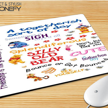 Winnie The Pooh Quotes 3 Mousepad Mouse Pad|iPhonefy