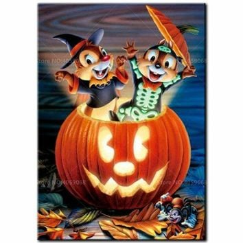 5D Diamond Painting Chip and Dale Halloween Kit