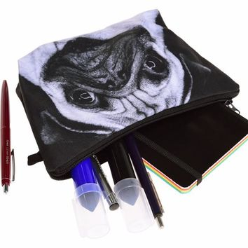 Pug Cosmetic Zipper Bag