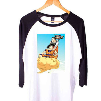 Family goku Short Sleeve Raglan - White Red - White Blue - White Black XS, S, M, L, XL, AND 2XL*AD*