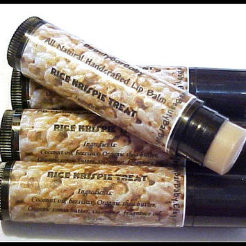 Tinted Lip Balm Rice Krispie Treat All Natural Lip Butter