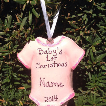 Personalized Baby's First Christmas Onesuit Ornament