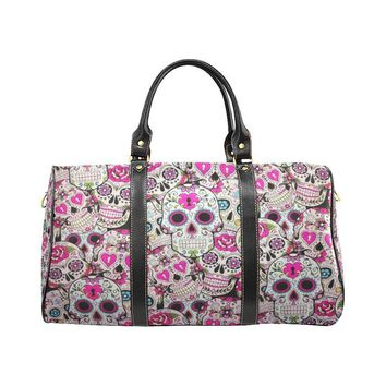 Sugar Skull Design 2 Travel Bag Black