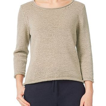 Tape Yarn Beige Jumper