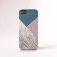 iPhone 6 Case Navy and Pink iPhone 5 Case Wood Print Geometric iPhone Case Pink Galaxy S5 Case Navy iPhone Case Pink iPhone Case Color Block