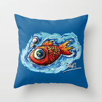 "Fishy Throw Pillow by Ana Lisa Luças ""Boardisart"""