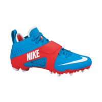 Nike Lacrosse Huarache 3 LE Cleats in Blue/Red | Lacrosse Unlimited