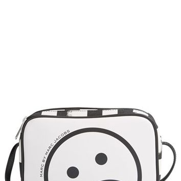 MARC BY MARC JACOBS 'Unsmiley & Stripes Sally' Crossbody Bag - White