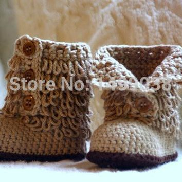 Baby Shoe Crochet baby shoes Boot froze shoes