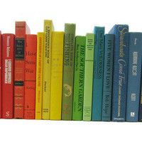 Vintage Books by Color Rainbow